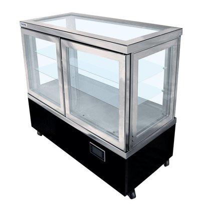 Tekna Vitrine Réfrigérée de Pâtisserie | Vitrée de 5 côtés | Disponibles en 3 Tailles
