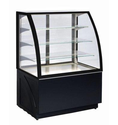 ColdFlow Vitrine Pâtisserie | ALDAN BASIC 100 | 100x76x(H)141cm | Disponible en 3 Couleurs