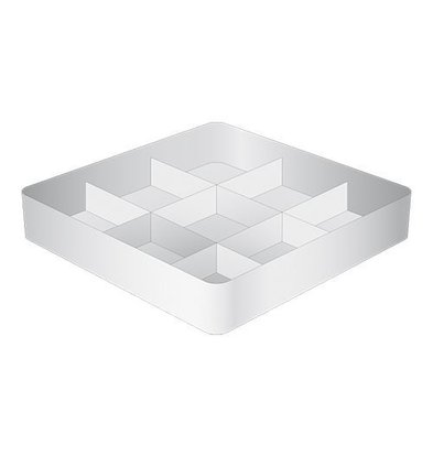 CaterRacks Casier à verres sans pieds - 9 compartiments - (h)8,5 cm - 15 cm de diamètre
