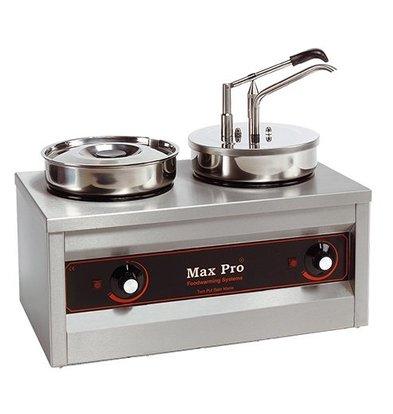 CHRselect Hotpot | Chauffe/Sauce-mets (cap.2pce.) avec dispenser | 2x4,5 Litres | 320W | H 43cm