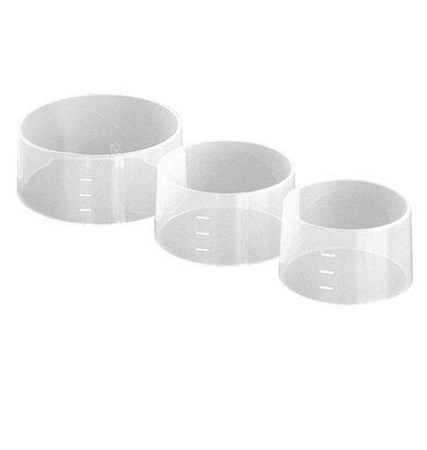 CHRselect Portionneur à Riz | Set de 4 | Ø 100x(H)45mm