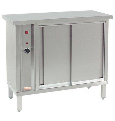 CHRselect Armoire Chauffante à Air Chaud pour 120 Assiettes - 1000W - 105x46x(h)90cm