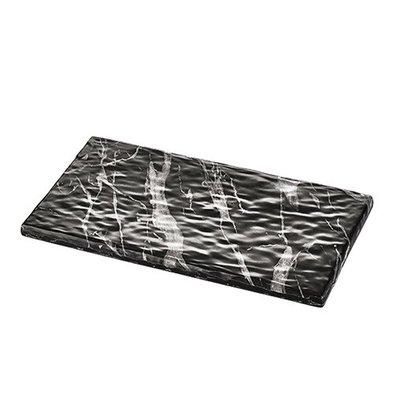 CHRselect Plat d'étalage Noir Aspect Marbre | Mélamine de haute qualité | Haute résistance à la rupture | 1/3 GN