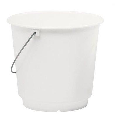 CHRselect Seau Blanc Plastique 10 Litres - Gradué