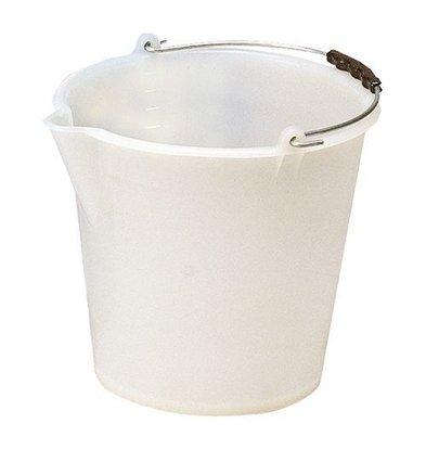 CHRselect Seau Blanc Plastique 12 Litres - Bec verseur