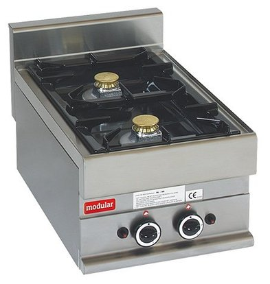 Modular Réchaud 650 Modulaire - Propane - 2 Brûleurs - 40x65x(h)28cm - 8,6 kW