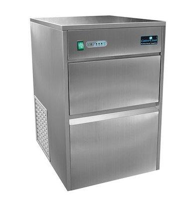 CaterCool Machine à Glaçons 25kg / jour - Glaçons Transparents à Cavité - 8 kg stock | 65,5(H)x52,8x42cm