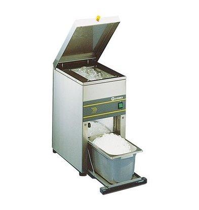CHRselect Pileur de Glace  - 6kg p/min - Pileur de Glace 3kg - INOX 18/10 - 250x430x(H)490 mm