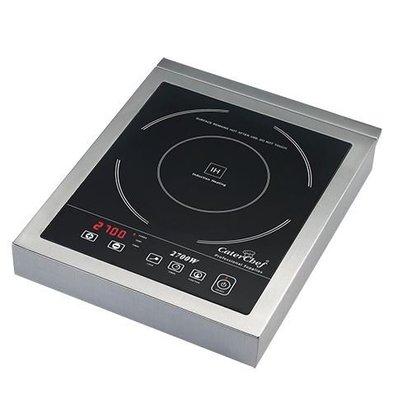 CaterChef Réchaud Induction Modèle Table INOX | Timer Digital | 2700W | 290x360x(H)55mm