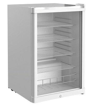 CHRselect Réfrigérateur Porte Vitrée |  Exquisit Blanc  | 115 Litres  | 550x540x840(h)mm
