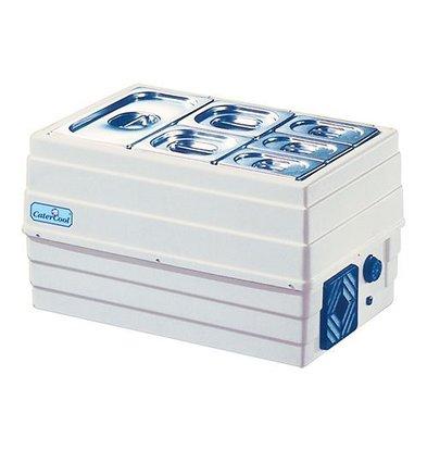 CaterCool Vitrine de Réfrigération  - Gaztro - 60x40x35(h) cm | (cap.GN1/1x1-15cm)