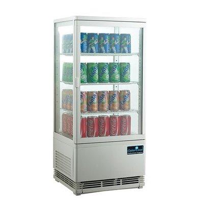 CaterCool Vitrine de Réfrigération Mini - Blanc - 68 Litres - 3 Grilles - 43x39x(h)89cm