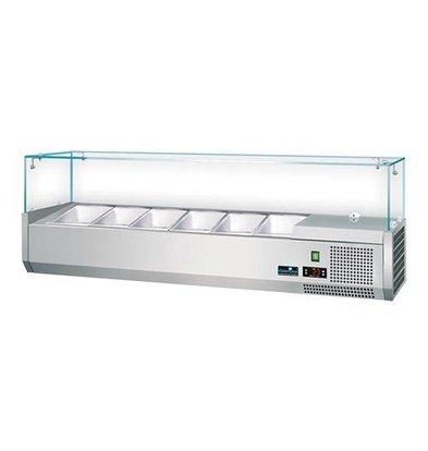 CaterCool Vitrine de Réfrigération - (cap.GN1/4x5-15cm) - 120x34x(H)44 cm