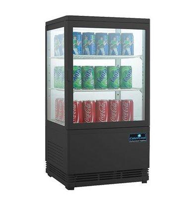 CaterCool Vitrine de Réfrigération Mini - Noir - 58 Litres - 2 Grilles - 43x39x(h)81cm