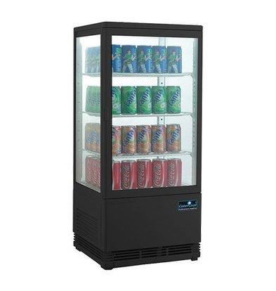 CaterCool Vitrine de Réfrigération Mini - Noir - 68 Litres - 3 Grilles - 43x39x(h)89cm
