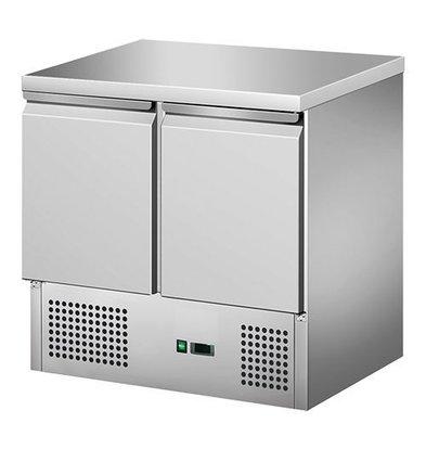 CaterCool Table de Refroidissement - INOX - 2 portes - 90x70x(h)85cm