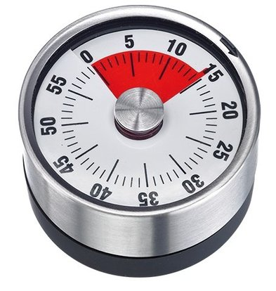 CHRselect Minuterie INOX | avec Magnet | 60 Minutes | Ø 62mmx(H)36mm