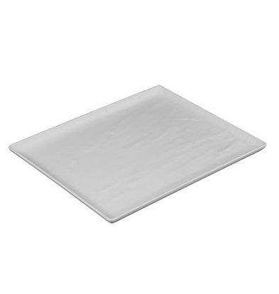 CHRselect Plat d'étalage Look Ardoise Blanc   Haute résistance à la rupture   320x260x(H)20mm