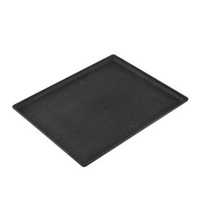 CHRselect Plat d'étalage Look Ardoise Noir   Haute résistance à la rupture   320x260x(H)20mm