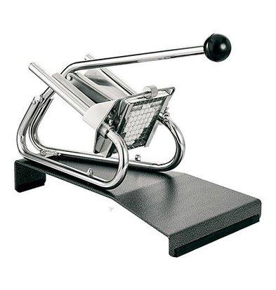 CHRselect Coupe Frites Modèle de Table Chromé - Grille de couteau 13x13mm