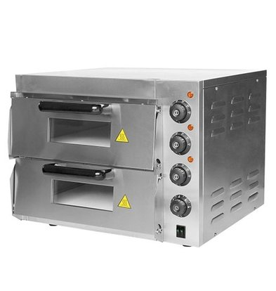CaterChef Four à Pizza  INOX | 50°C-350°C | 3000W | 560x560x(H)440mm