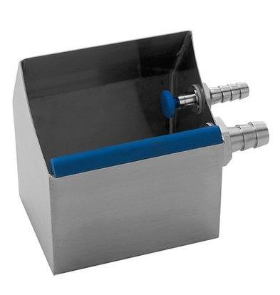 CHRselect Bac Cuillère à Glace Modèle Table INOX |avec Raccordement d'eau | 130x100x(H)140mm