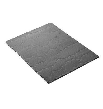 CHRselect Plat d'étalage Porcelaine de Basalte | Aspect Ardoise| 540x170x(H)7mm