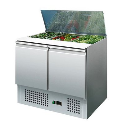 CaterCool Saladette Inox | Pour Bacs GN1/1 | 900x700x(h)850mm