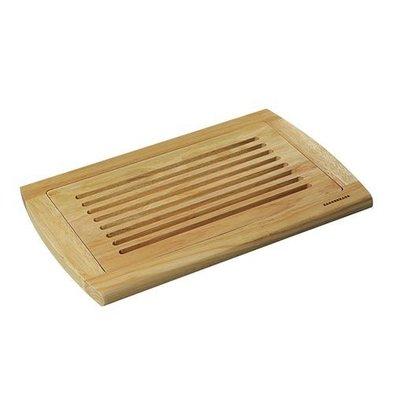 Emga Planche à Pain/Découper - bois d'hévéa avec ramasse-miettes - 420x280x(h)20mm