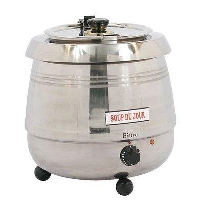 Bistro Chauffe-Soupe Électrique 10 Litres INOX