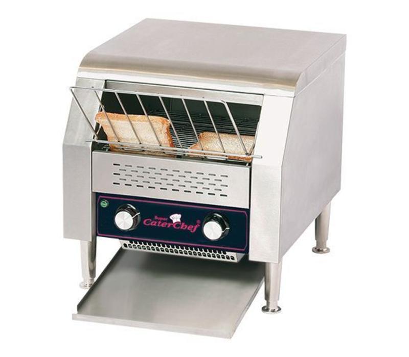 CaterChef Toaster Convoyeur (cap.500 pces.) | XL Hôtel - Vitesse réglable - 37x42x(H)39cm - 1940W