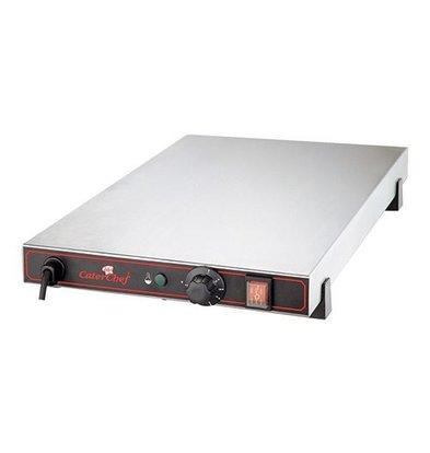 CaterChef Plaque Chauffante Électrique - INOX - 1/1 GN - 53x33x(h)9cm