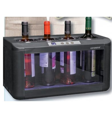 CHRselect Refroidisseur de Vin Électrothermique |  pour 4 bouteilles | 7° ~ 18°C | 480x260x(H)260mm