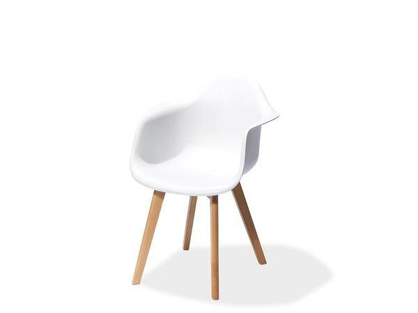 CHRselect Chaise avec Accoudoir| Keeve Trendy | Blanc | 610x615x(H)830 mm