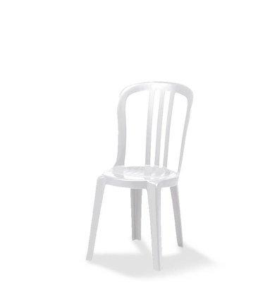 CHRselect Chaise Bistro |Empilable | Plastique |Blanc | 490x460x(H)860 mm |Lot de 14