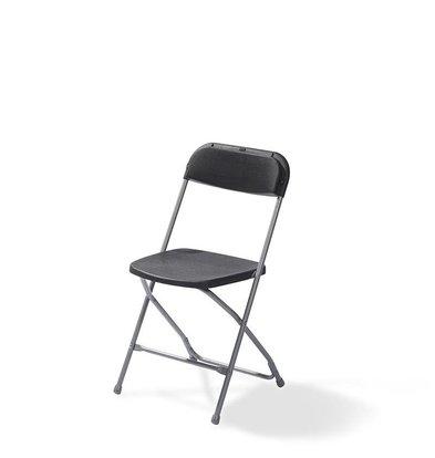 CHRselect Chaise Pliante | Budget | Noir et Gris| 3 Kg |550x440x(H)800 mm | Lot de 10