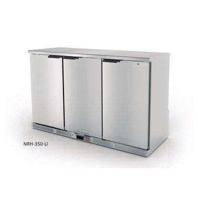 Coreco Arrière-Bar 3 Portes | Noir | 2 Niveaux Réglables | 305 Litres | 137,5x52x(H)90cm