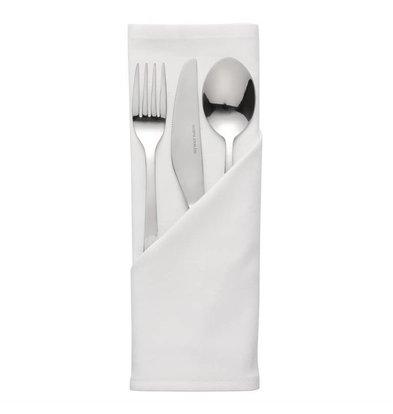 Mitre Essentials Pochettes à couverts / Serviettes Ocassions | Blanc | 51x51cm | Lot de 10 pièces