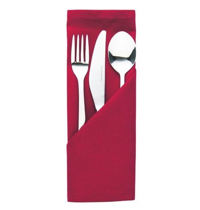 Mitre Essentials Pochettes à couverts / Serviettes Ocassions | Bordeaux | 51x51cm | Lot de 10 pièces