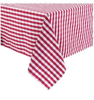 Mitre Comfort Nappe Vichy | Rouge-Blanc | 100% polyester | Disponibles en 3 tailles