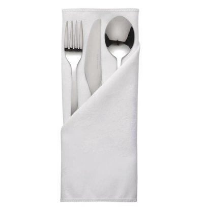Mitre Luxury Pochettes à couverts / Serviettes Roslin | Blanc | 56x56cm | Lot de 10 pièces