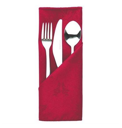 Mitre Luxury Pochettes à couverts / Serviettes Traditions | Bordeaux | 56x56cm | Lot de 10 pièces