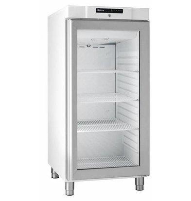 Gram Réfrigérateur Blanc/INOX | Gram COMPACT KG 310 LG L1 4W | Porte en Verre | 218L | 595x640x1300(h)mm