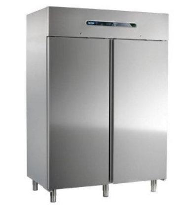 Afinox Réfrigérateur INOX | Mekano 1400 TN | R404a | Format GN2/1 | 1466x843x(H)2090mm