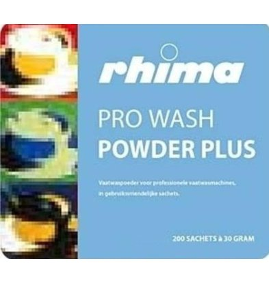 Rhima Détergent à vaisselle | Pro Wash Powder Plus  |150 sachets