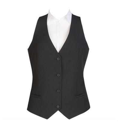 CHRselect Gilet Dames| 4 Boutons | Noir | Disponible en 6 tailles