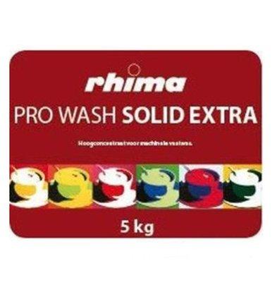 Rhima Détergent à vaisselle | Pro Wash Solid Extra |  Conteneur 2 x 5kg