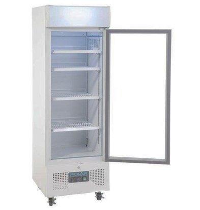 Polar Armoire Réfrigérée Blanc   Porte Vitrée   228 Litres   530x575x1610(h)mm