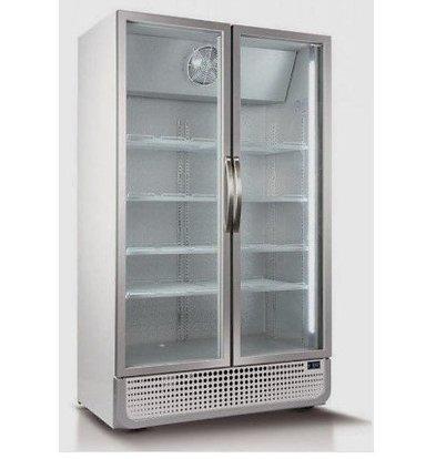 Husky Réfrigérateur Blanc/Argent | 975 Litres | Eclairage LED | 1200x719x1985(h)mm