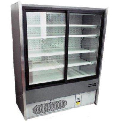 Combisteel Meuble Réfrigéré Gris | +1/+10°C | 4 Etagères | Portes Coulissantes |  Disponibles en 3 Largeurs